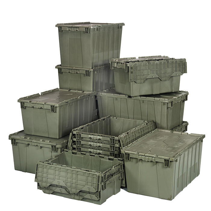 Hinged Plastic Storage Boxes