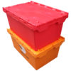 distribution tote with hinged lid